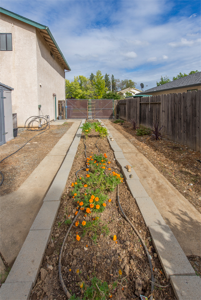 Raised bed garden or RV parking