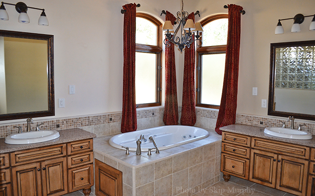 Master bath image by Skip Murphy of the Address Realty