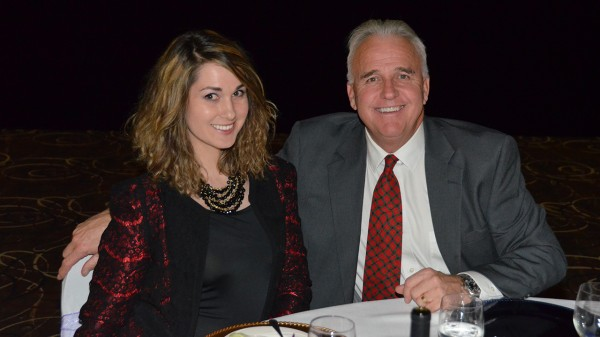 Broker Erin Rader dining with Redding Mayor Rick Bosetti